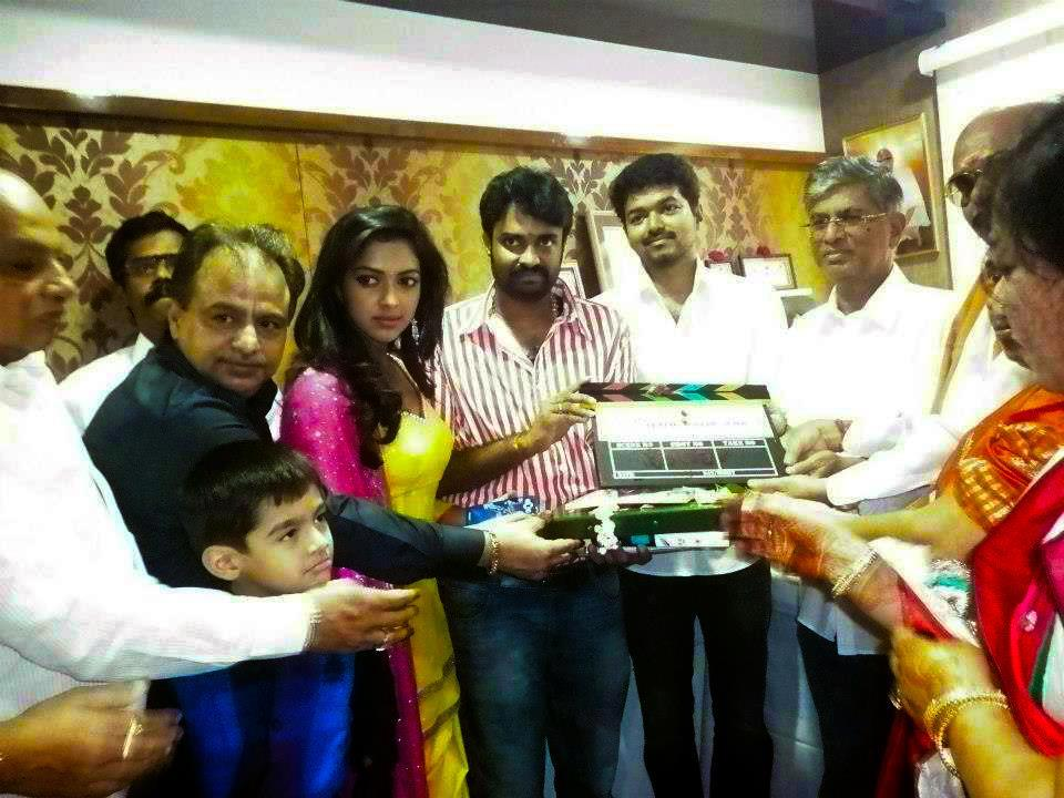 VIJAY, AMALA PAUL MOVIE POOJA PHOTOS