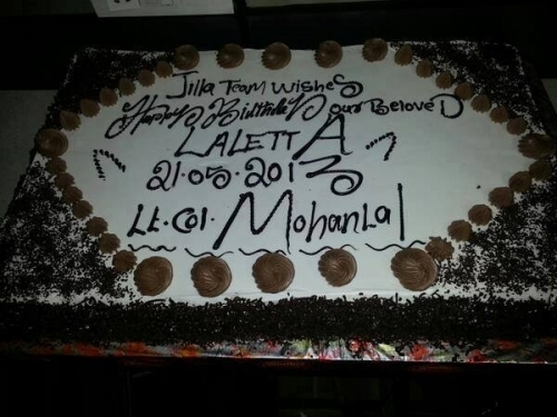 Mohanlal Birthday Celebration Photos,Jilla Team,Mohanlal 53rd Birthday Celebration