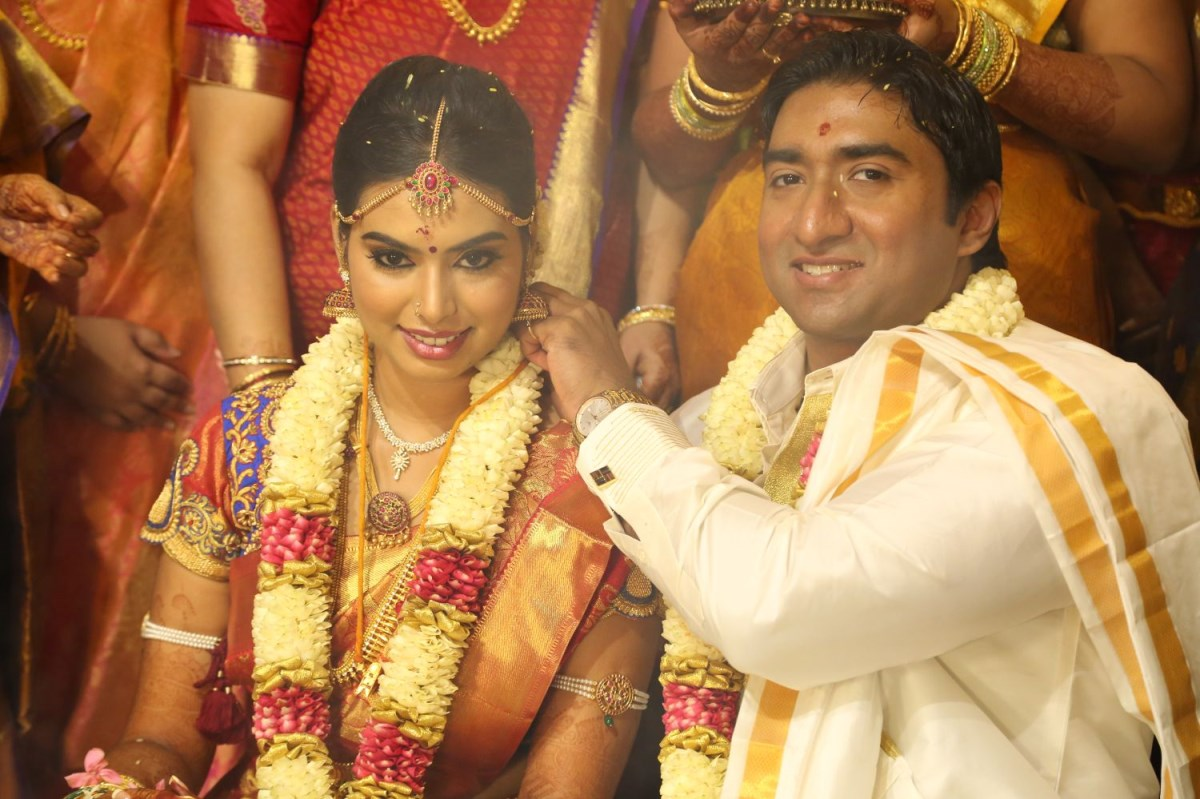 TG Thyagarajan son Sendhil Dhasha Wedding Photos - cutmirchi.com