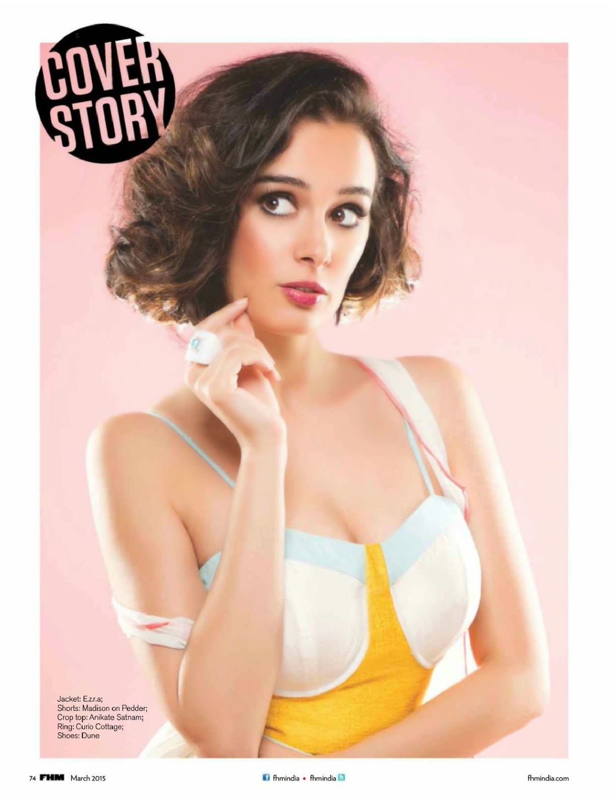 Evelyn Sharma Spicy Sizzling at FHM Magazine 2015         |         tollyreels.tk